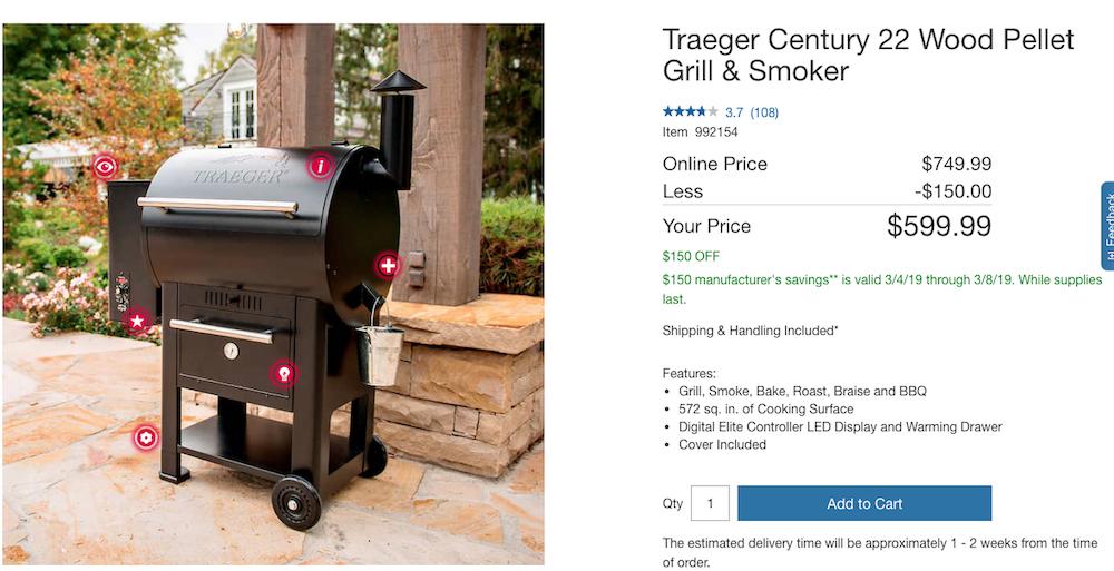 Traeger Century 22 $599 @ Costco | Traeger Owners Forum